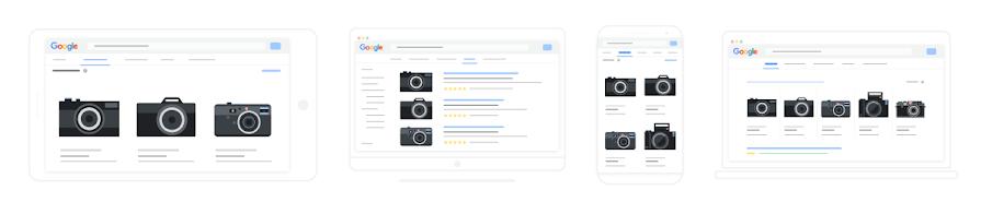 display de imagens de produto do Google Shopping