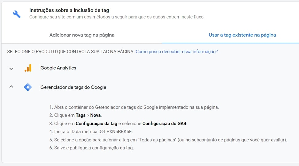 tag manager google analytics 4