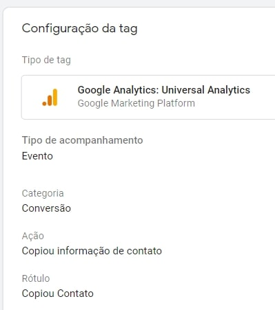 tag do google analytics